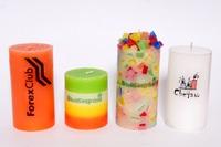 Свечи Логотипные min Куб 45*45