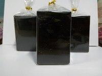 Свеча Черная Блок 70*80мм