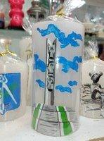 """Свеча """"Символы Ижевска.Монумент Дружбы Народов"""" Колонна 70*130"""
